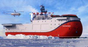 Уникальную самодвижущуюся станцию «Северный полюс» спустили на воду с «Адмиралтейских верфей»