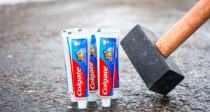 Experiment: Toothpaste vs Hammer