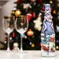 45+ идей декупажа бутылок к Новому году 2021