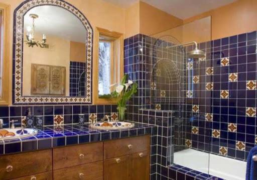 Марокканский дизайн ванной комнаты